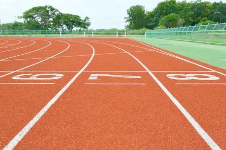 pistas de atletismo en el estadio al aire libre Foto de archivo - 19477386