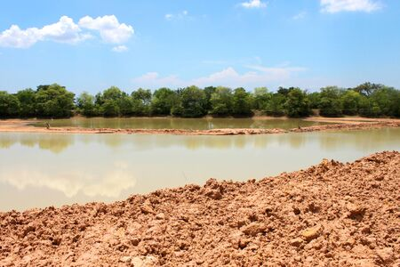 reservoir development of public project in rural Thailand photo