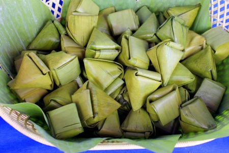 Khanom Tian, a stuffed dough pyramid dessert  photo