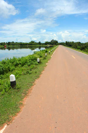 public project: road and reservoir development of public project in rural Thailand