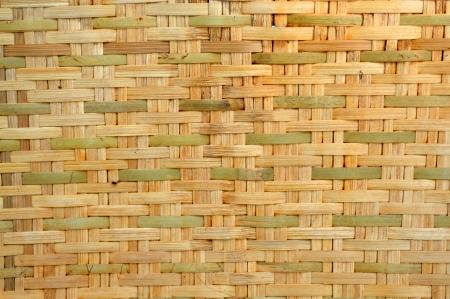 woven bamboo wall  photo