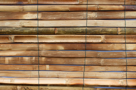 blinder: bamboo blind exterior decoration Stock Photo