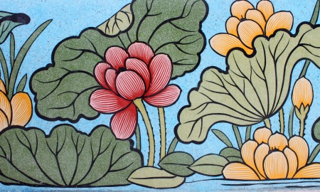 Chinese style painting on wall of shrine in Thailand  Generality in Thailand, any kind of art decorated in Buddhist church or shrine etc  created with money donated by people, no restrict in copy or use