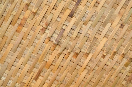 woven bamboo wall background photo