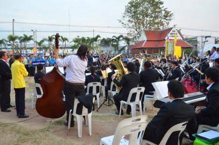 human's arm: MAHASARAKHAM - DECEMBER 5   Unidentified students of Mahasarakham university perform symphony orchestra for celebrate the king