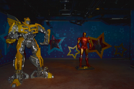 DANANG, VIETNAM - MARCH 14   Robots are on displayed at Wax museum in fantasy park at Bana Hills on March 14, 2014 in Danang, Vietnam  Bana Hills is interesting tourist new places to visit