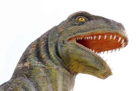 prehistoria: estatua de dinosaurio en el jard�n prehistoria en Kalasin de Tailandia Editorial