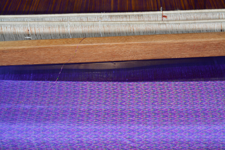 loom: traditional loom for silk weaving in Thailand
