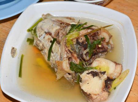freshwater fish: freshwater fish spicy lemongrass soup