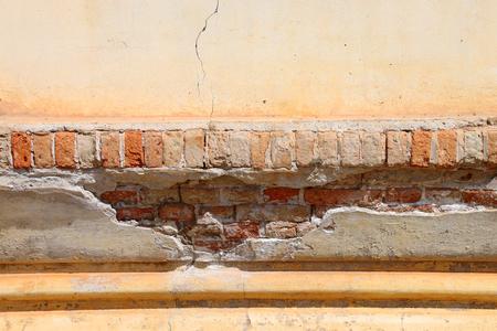 ing: old broken brick wall at Ing Hang Stupa in Savannakhet of Lao P.D.R. Stock Photo