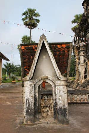 ing: Buddhism shrine at Ing Hang Stupa in Savannakhet of Lao P.D.R.