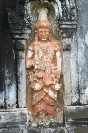 ing: Buddhism statue at Ing Hang Stupa in Savannakhet of Lao P.D.R.
