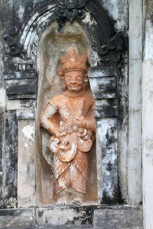 ing: Buddhism statue at Ing Hang Stupa in Savannakhet of Lao P.D.R.