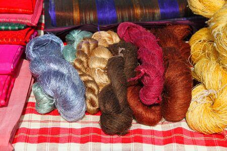 silk thread: raw silk thread for making clothes
