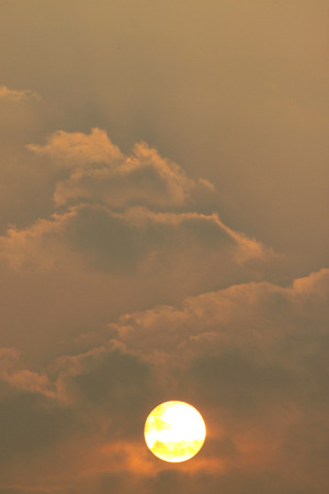 climatology: sky and gloomy cloud at sunset