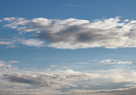 climatology: blue sky and gloomy cloud in the morning