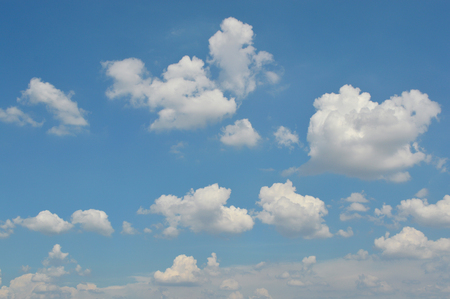 climatology: blue sky and white cloud in the afternoon Stock Photo