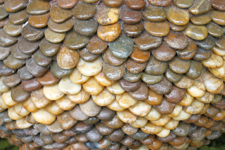 stack stone: surface of stack stone plant pot in ornamental garden