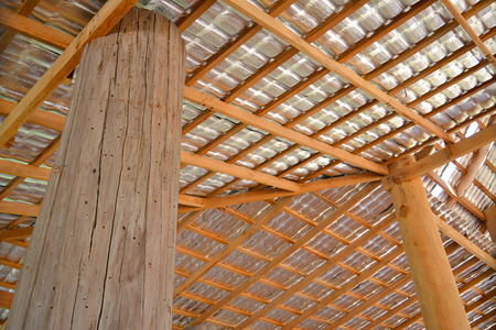 solidify: thermal insulation roof of pavillion hall Stock Photo
