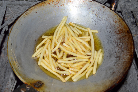 vegetable oil: french fried in boiling vegetable oil