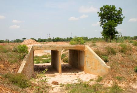 culvert: box culvert reservoir construction in northeast Thailand