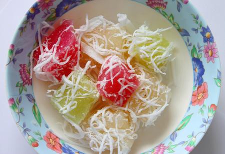 sweetmeat: banana cake Thai sweetmeat Stock Photo