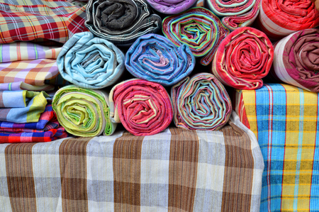 a rural community: Thai handmade clothes manufactured in rural community Stock Photo