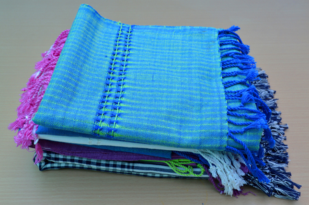 manufactured: Thai handmade cotton clothes manufactured in rural community