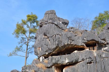 Thailand scenic mountain landscape shot at Suan Hin Pha Ngam, aka Kunming of Loei