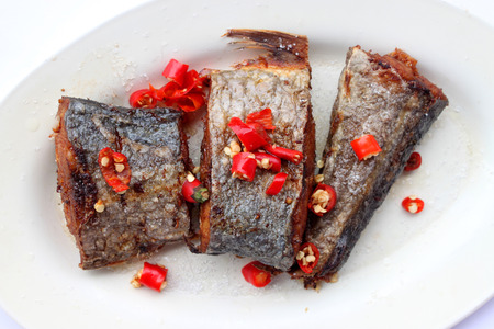 mackerel - a fried with red chili and salted