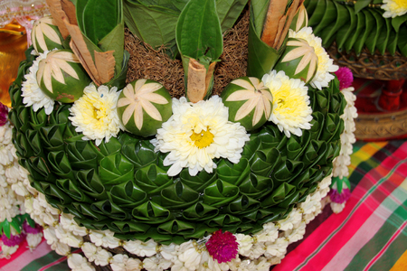 betel bowl, presented during a wedding ceremony to the brides parents