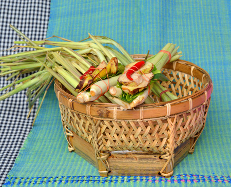 herbs for Thai hot and sour spicy lemongrass soup (Tom Yum ) Stock Photo