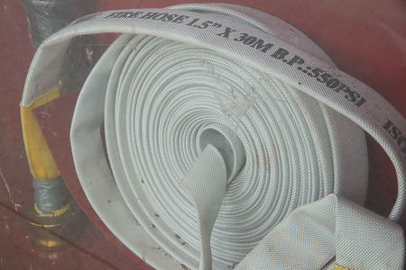 with no one: Dirty fire hose because no one check it for long time