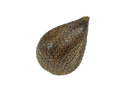 Snake fruit, technically known as salak fruit or salacca zalacca isolated on the white background