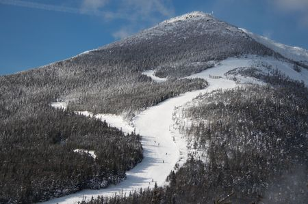 Olimpic skiing slopes on mt Whiteface at Lake Placid photo