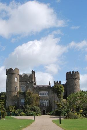 castles needle: the malahide castle near dublin, ireland