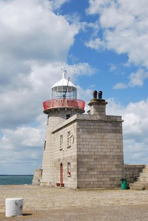 castles needle: the lighthouse in howth near dublin, ireland Stock Photo