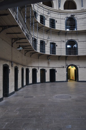 gaol: inside the old gaol in dublin, ireland Stock Photo