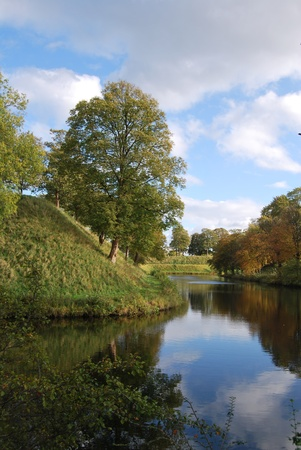 ramparts: Kastellet area with its ramparts and its mill
