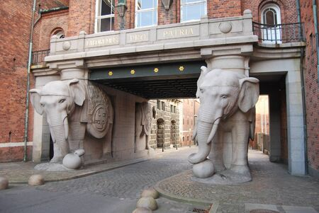 the door of the elephants in Copenhagen, Denmark photo