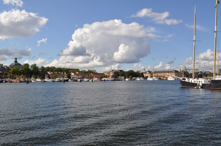 stockholm, capital of sweden, with its monuments, palace and castle photo
