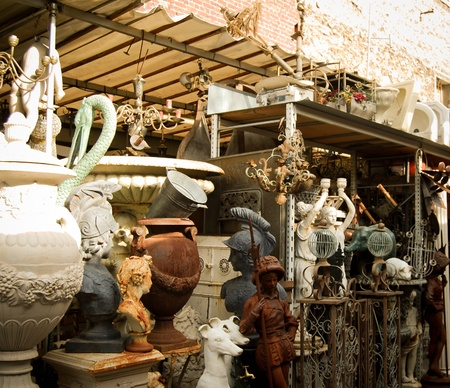 flea market: the city of Paris with its palaces, monuments and wonders Stock Photo