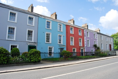 castles needle: colored house in dublin