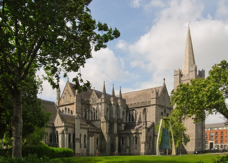 eire: the saint patrick cathedral, dublin