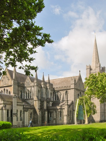 liffey: the saint patrick cathedral, dublin