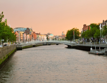 liffey: the city of dublin in ireland