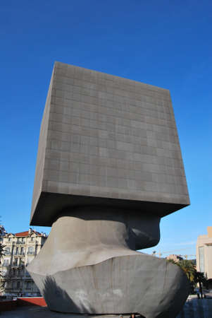 estrange: A face in a cube Nice Villas, Côte dAzur, France