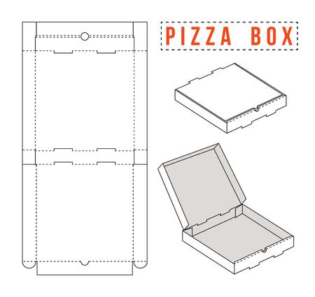 pole wektorowe Zdjęcie na pizzę. Rozpakowany i obraz 3D