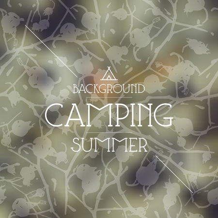 amazing wallpaper: Summer camping blurred background and seamless pattern Illustration