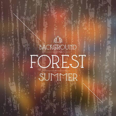 colores calidos: bosque de verano borrosa fondo y el patrón sin fisuras. Colores cálidos